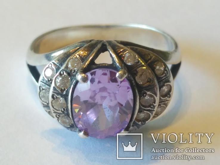 Гарнитур 3 кольцо и серьги серебро, фото №3