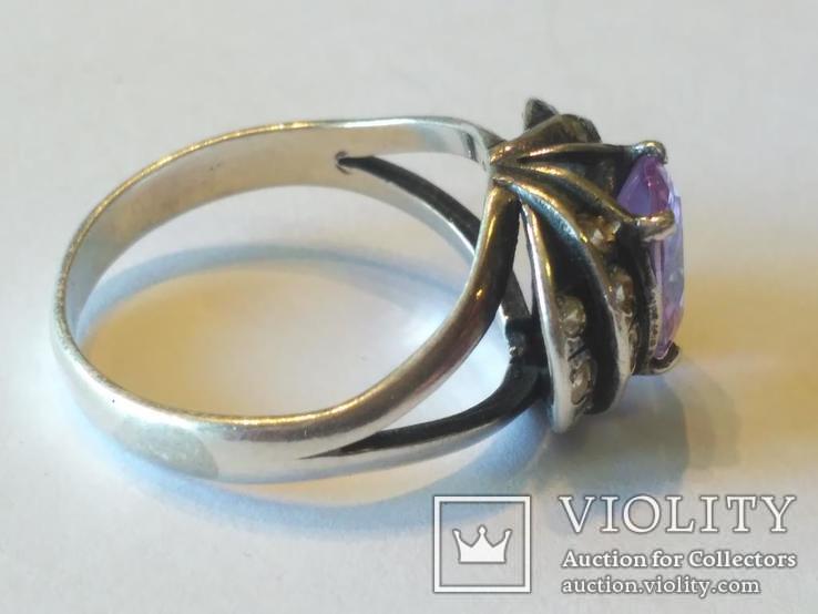 Гарнитур 3 кольцо и серьги серебро, фото №4