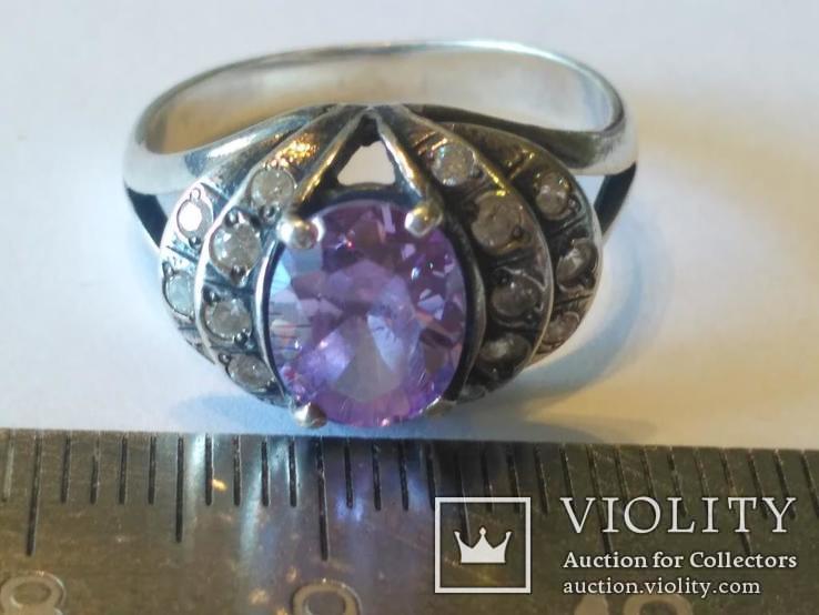 Гарнитур 3 кольцо и серьги серебро, фото №5