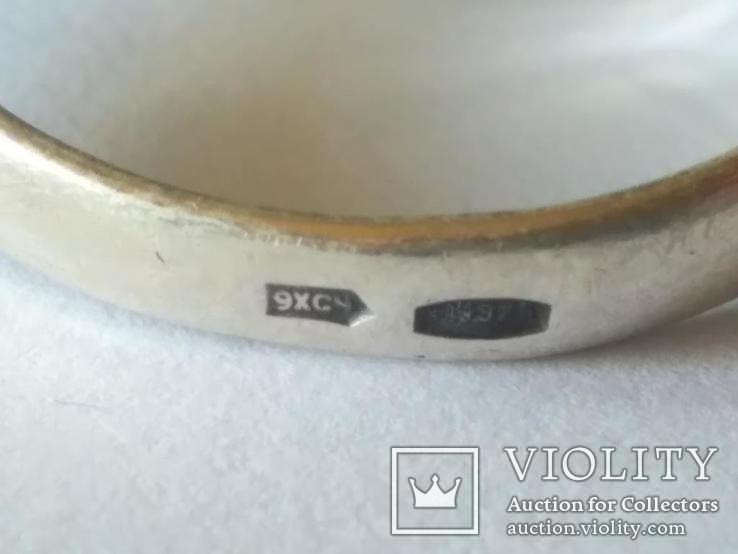 Гарнитур 3 кольцо и серьги серебро, фото №9