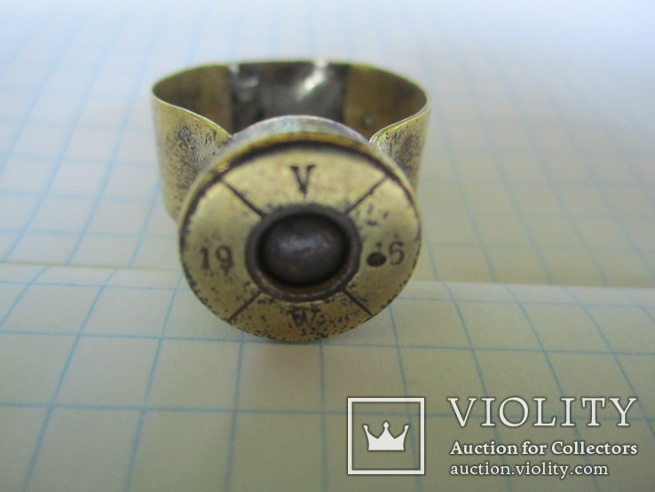 Кольцо из гильзы 1916 года(еще одно)., фото №8
