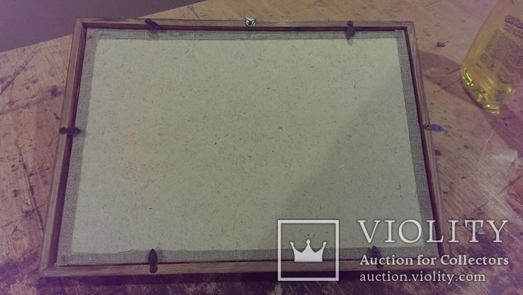 Подвесная рамка(фон мешковина), фото №3