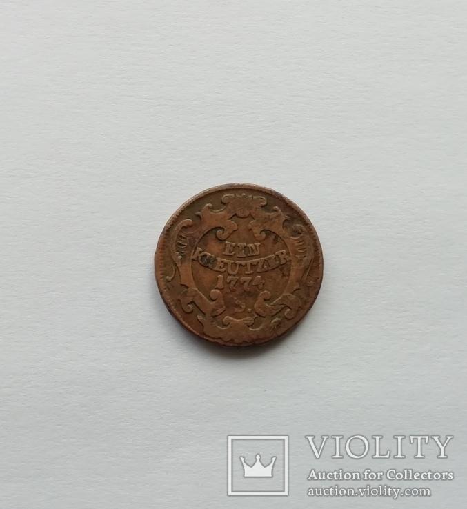 1 крейцер 1774г. Йосиф 2, фото №2