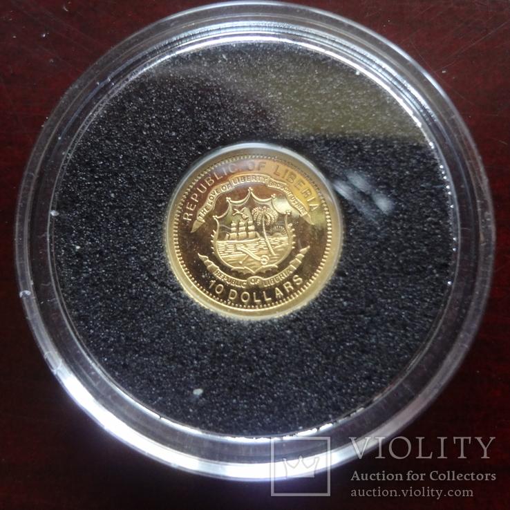 10 долларов 2006  Либерия Парусник   золото 999, фото №7