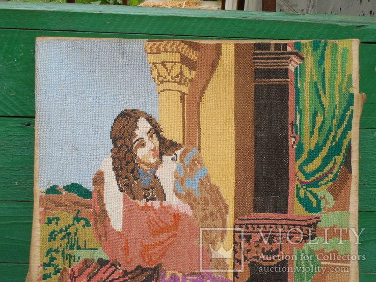 Вышивка девушка, фото №3