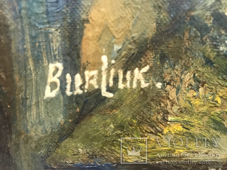 Бурлюк Д.Д. Букет на подоконнике с видом на океан, фото №4