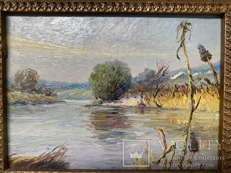 Картина Дороднов Н.И. «Река Уды под Харьковом» 1986 г., фото №3
