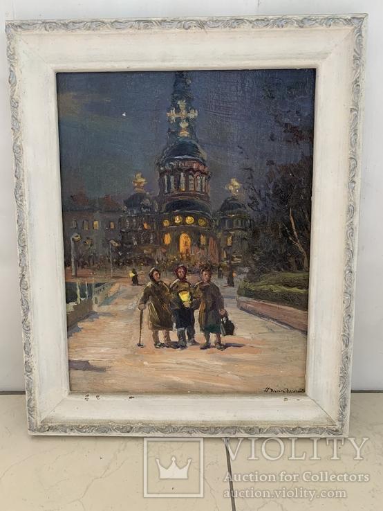 Картина Дороднов Н.И. «Чистый четверг перед Пасхой» 1981 г.