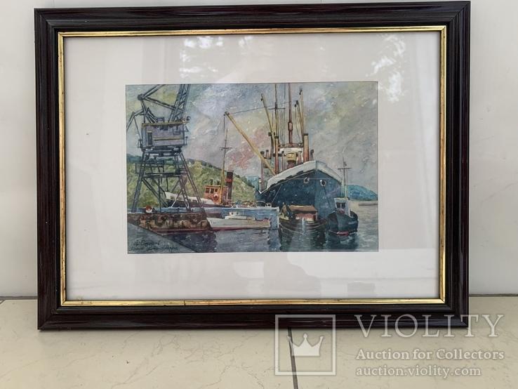 Картина Сидоров Ф. «Порт Усть Ангара», фото №2
