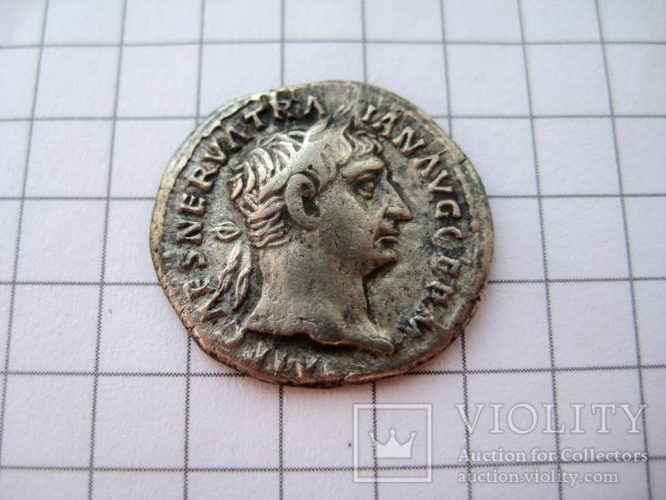 Денарий Траяна,  реверс (Геракл)