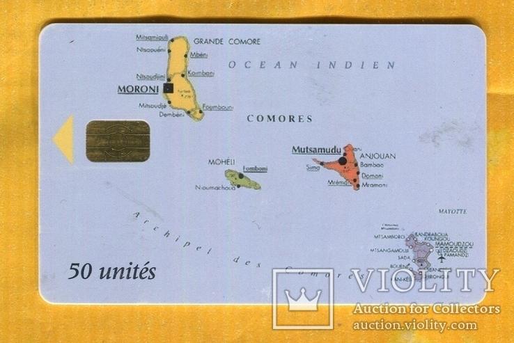 Телефонная карточка Коморские острова 2000 г чип, фото №2