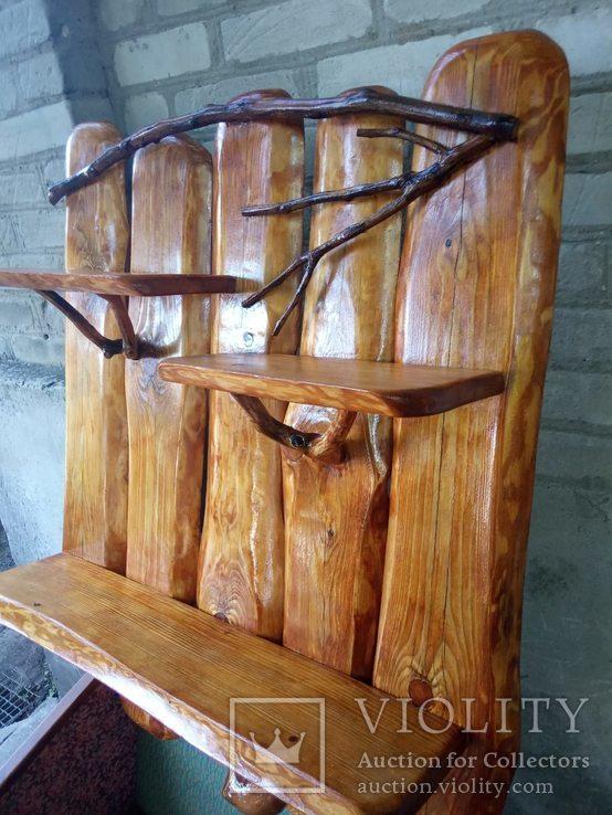 Авторская декоративная полка из натуральной древесины, фото №3