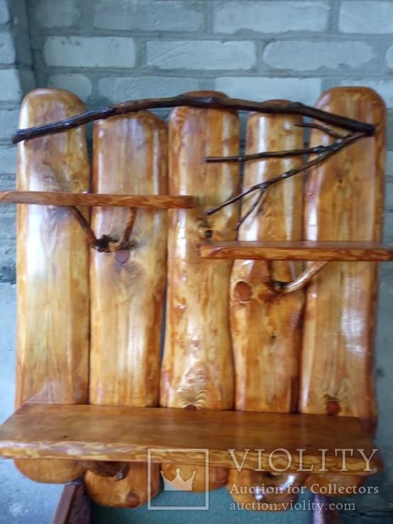 Авторская декоративная полка из натуральной древесины, фото №5