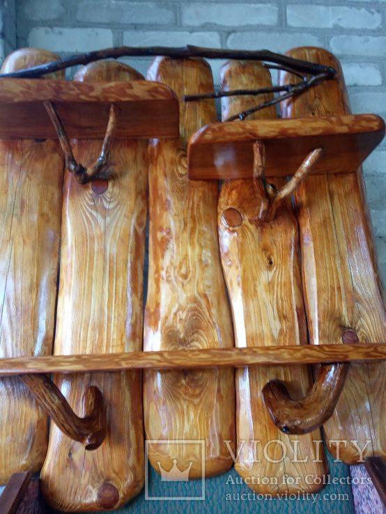 Авторская декоративная полка из натуральной древесины, фото №7