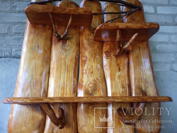 Авторская декоративная полка из натуральной древесины, фото №11