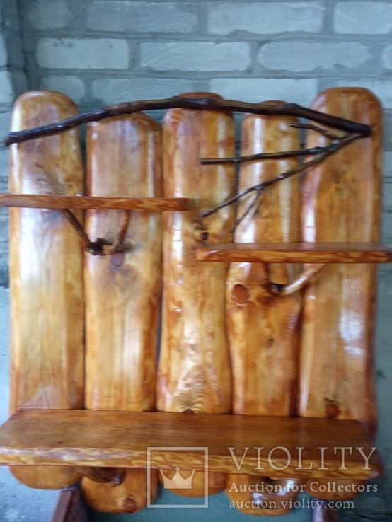 Авторская декоративная полка из натуральной древесины, фото №2