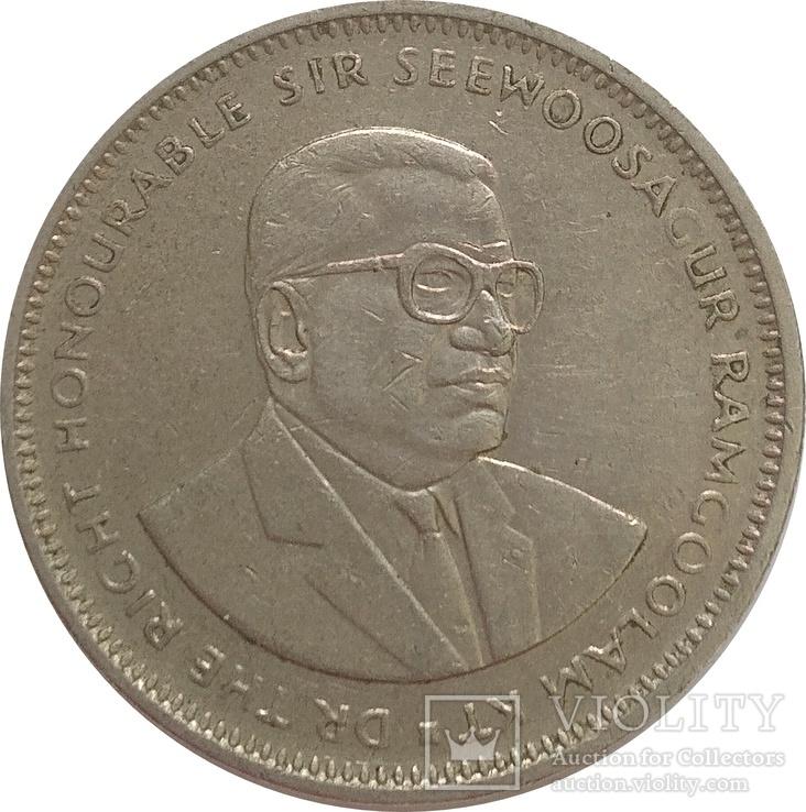 Маврикий 1 рупия 1991, фото №3
