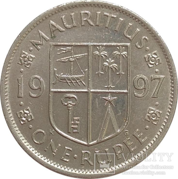 Маврикий 1 рупия 1997, фото №2