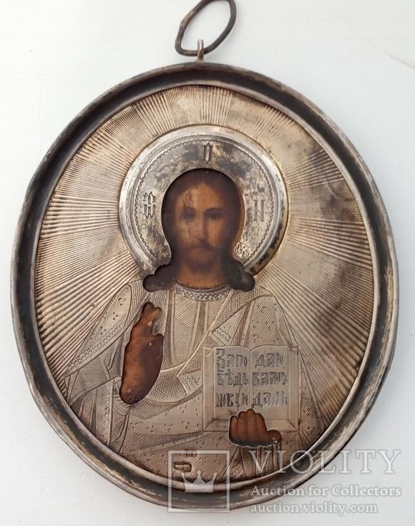 Иконка Господь Вседержитель. Серебро