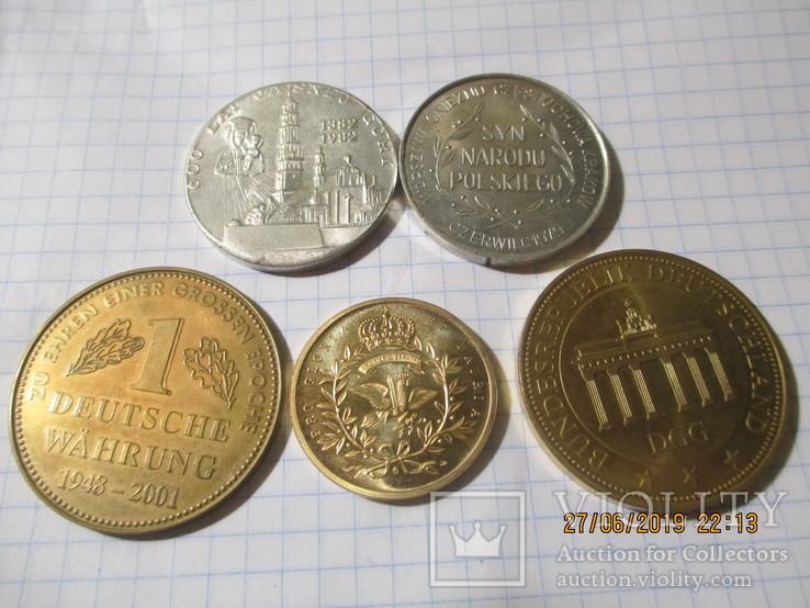 Памятные жетоны 5 штук, фото №3