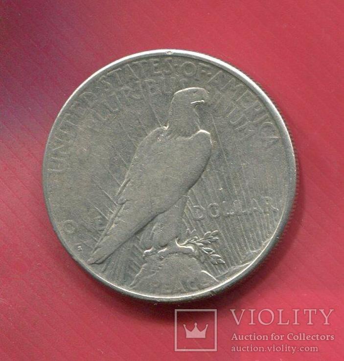 США 1 доллар 1928 серебро Мирный, фото №3