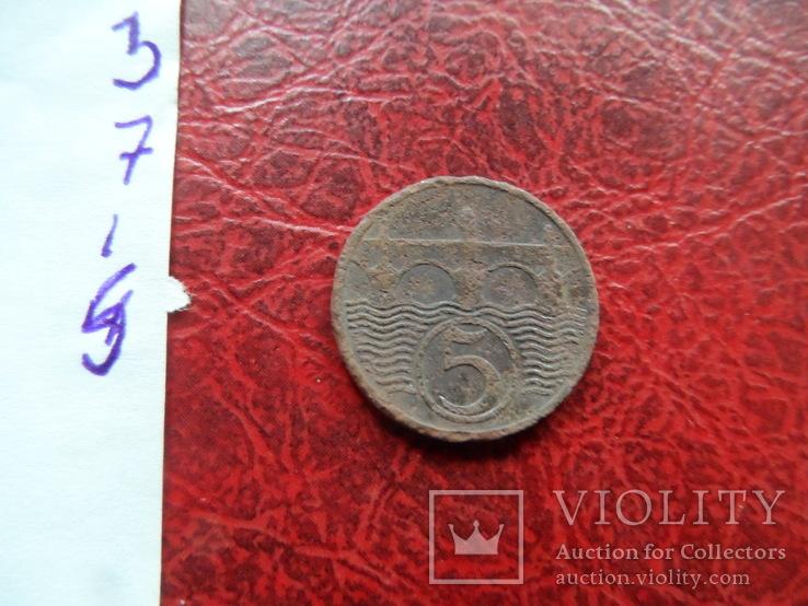 5 геллеров 1931  Чехословакия    ($7.1.5)~, фото №5