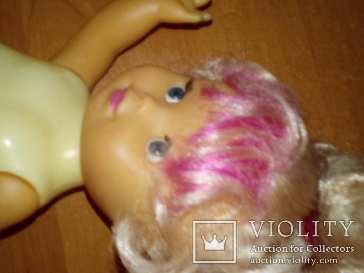 Куколка с розовой чёлкой 26 см, фото №6