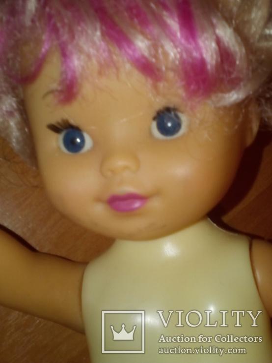 Куколка с розовой чёлкой 26 см, фото №7
