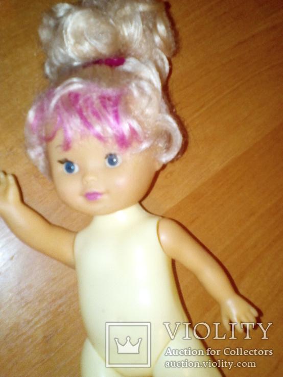 Куколка с розовой чёлкой 26 см, фото №8