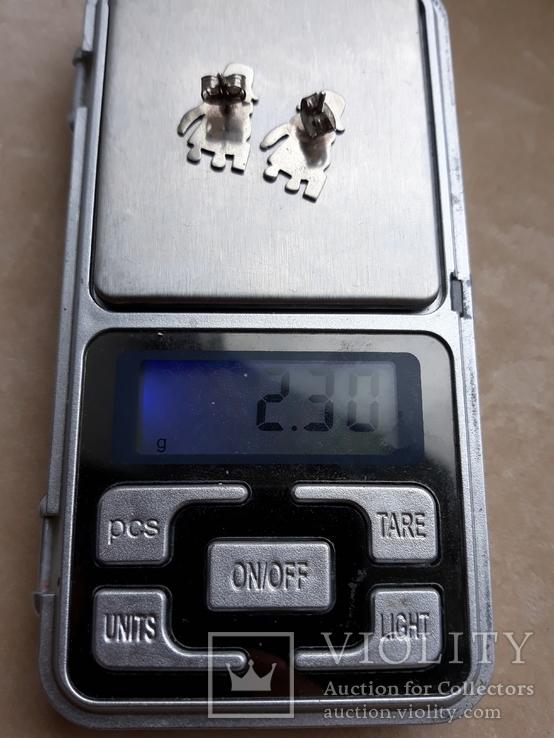 Серебряные серьги, фото №6