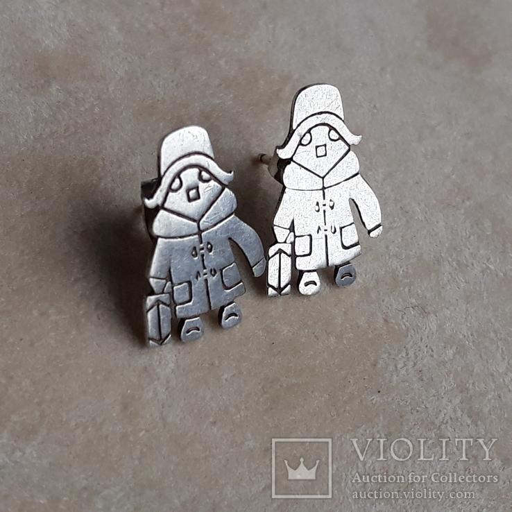 Серебряные серьги, фото №2