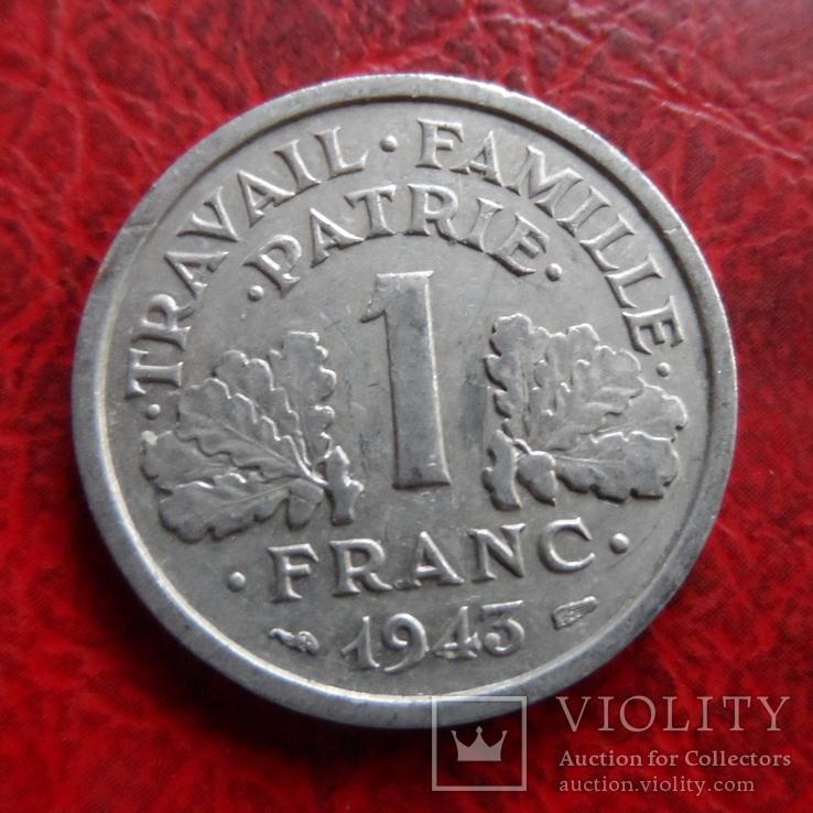 1  франк  1943  Франция   ($7.4.9)~, фото №2