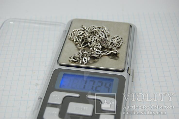 Цепочка. Серебро. 17,24гр, фото №3
