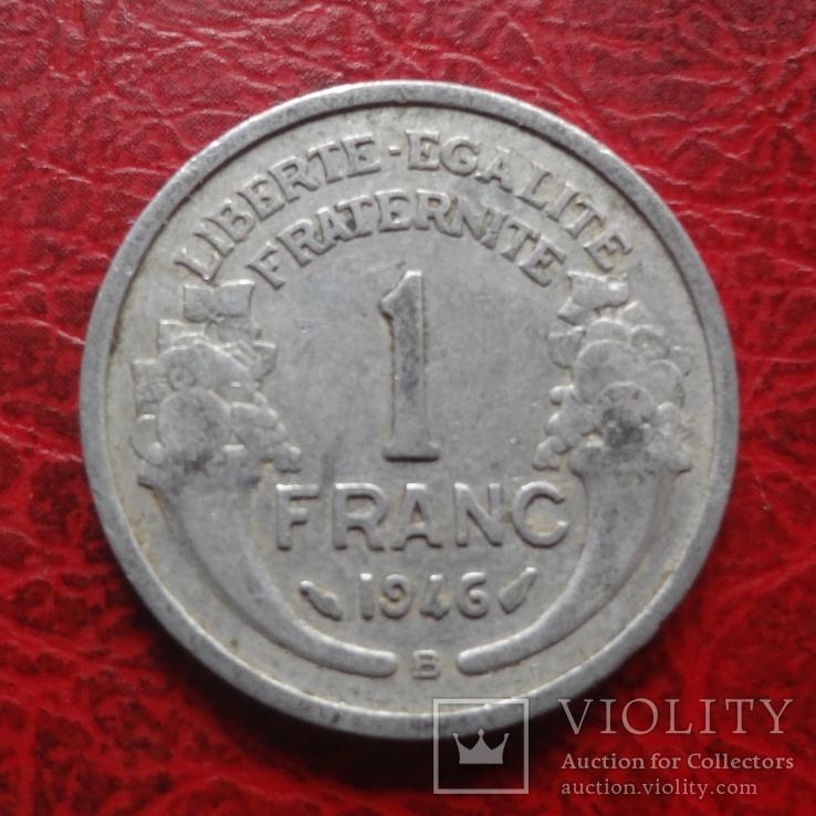1 франк 1946 В  Франция     ($7.4.28)~, фото №2