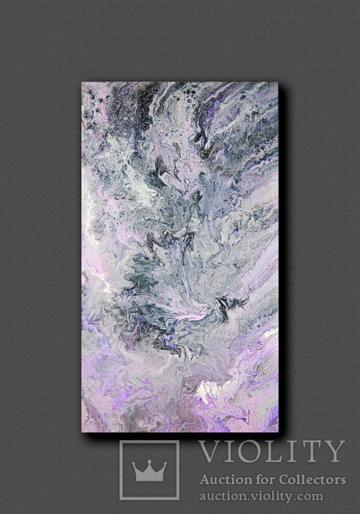 Картина. Абстракция. Сиреневое танго. 40х70