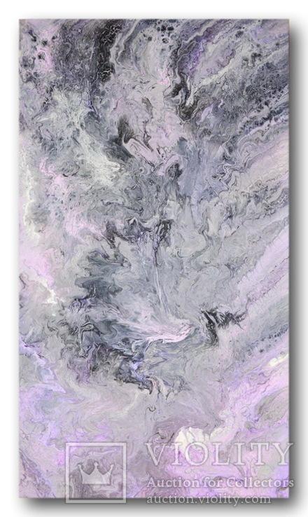 Картина. Абстракция. Сиреневое танго. 40х70, фото №4