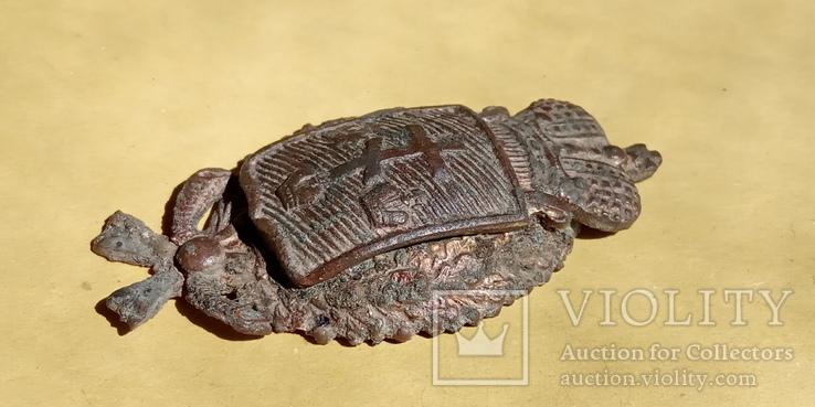 Кокарда полицейского Херсонской губернии с остатками позолоты, фото №5