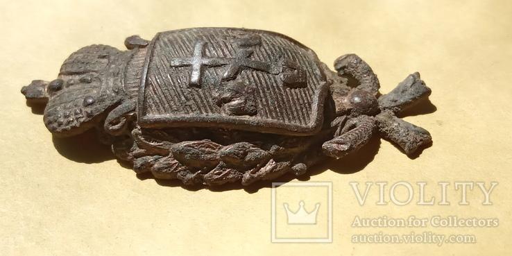 Кокарда полицейского Херсонской губернии с остатками позолоты, фото №6