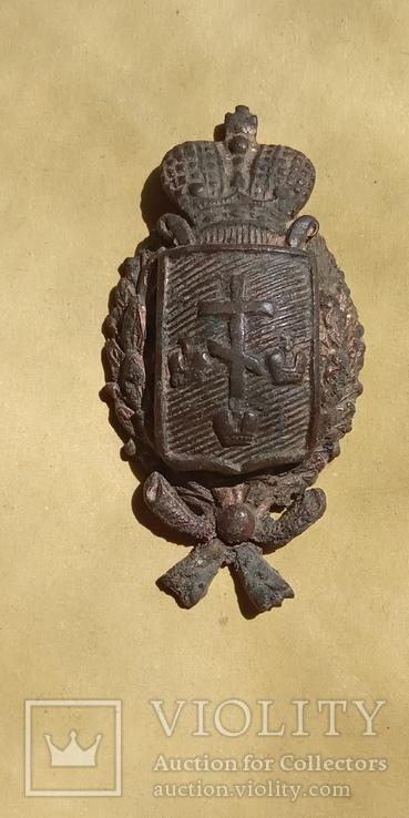 Кокарда полицейского Херсонской губернии с остатками позолоты, фото №7
