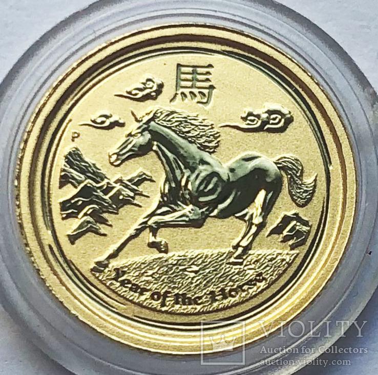 5 долларов 2014 года. Австралия. Год лошади.