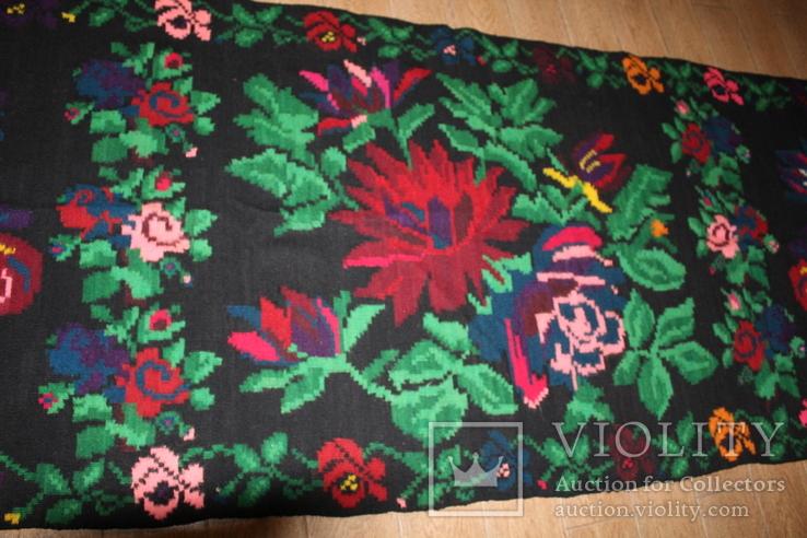 № 185 Буковинський вовняний килим 1958 року  6.60м. ковёр доріжка, фото №6
