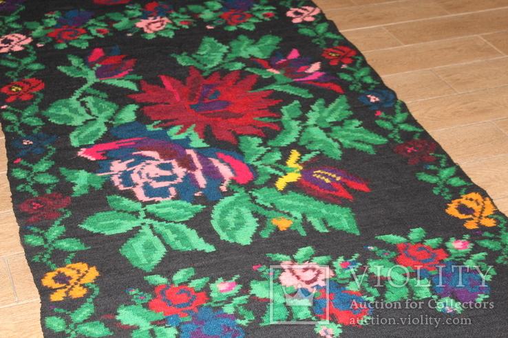 № 185 Буковинський вовняний килим 1958 року  6.60м. ковёр доріжка, фото №8