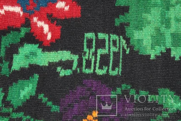№ 185 Буковинський вовняний килим 1958 року  6.60м. ковёр доріжка, фото №2