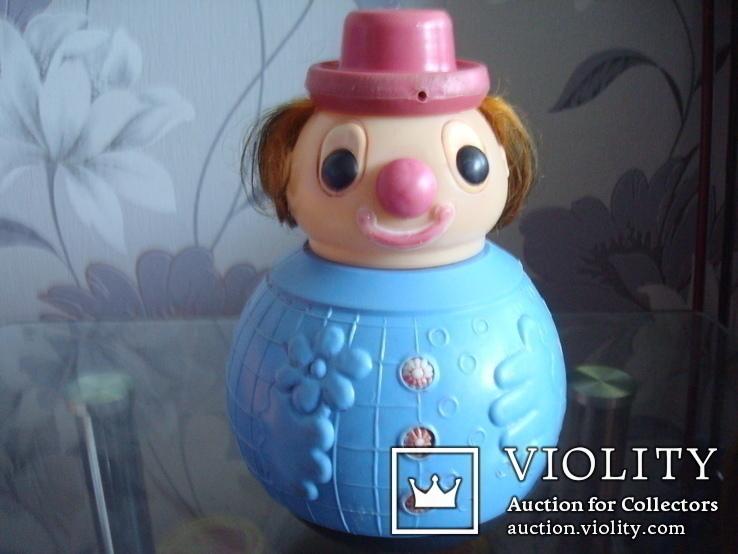 Кукла неваляшка-клоун СССР, фото №2