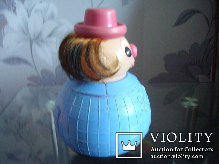 Кукла неваляшка-клоун СССР, фото №5