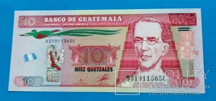 Гватемала 10 кетцаль  UNC, фото №2