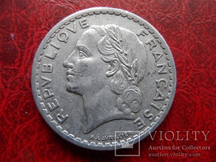 5 франков 1947  Франция   ($5.7.1)~, фото №3