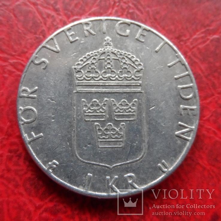 1  крона  1979  Швеция   (7.7.18), фото №3