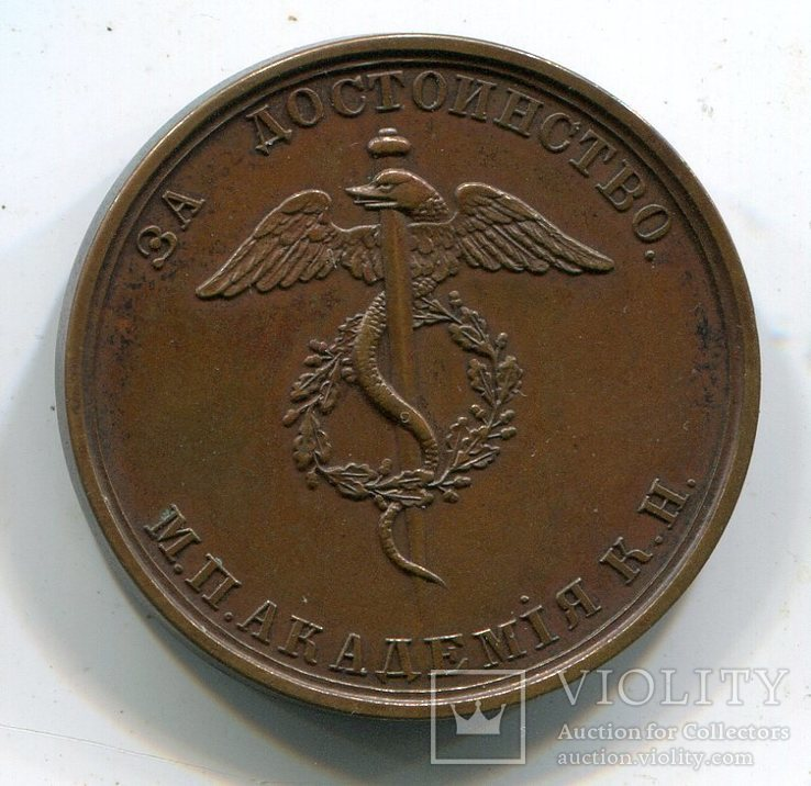Медаль «За достоинство». М.П.Академия К.Н. Александр III., фото №3