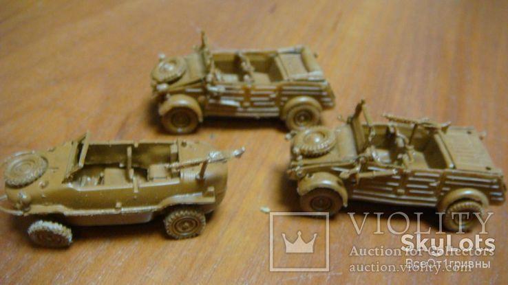 Машинки, военные, 3 шт, фото №2
